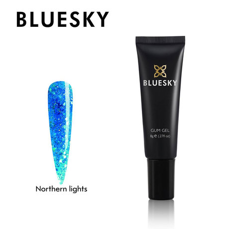 Crystal Gum Gel за изграждане Bluesky Northern lights color 8 g