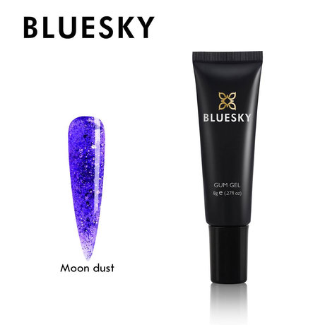 Crystal Gum Gel за изграждане Bluesky Moon dust color 8 g